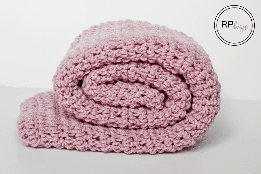 Rolled up crochet blanket pattern