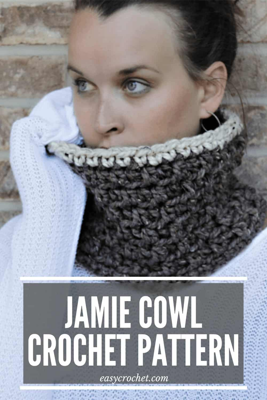 JAMIE Cowl Crochet Pattern via @easycrochetcom