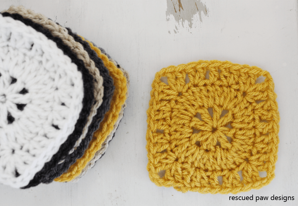 Free Crochet Pattern - Simple Square by Rescued Paw Designs