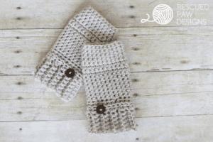 Crochet Gloves Pattern || FREE PATTERN || Rescued Paw Designs #crochet #lionbrandyarn