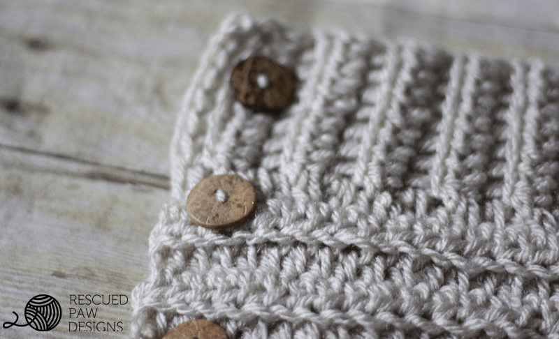 The Andy Button Scarf || FREE CROCHET PATTERN || by Easy Crochet