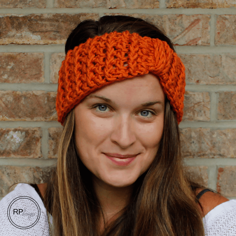 Cabled Ear Warmer Crochet Pattern