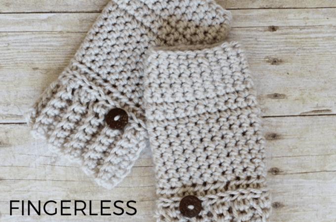 Andy Crochet Fingerless Gloves