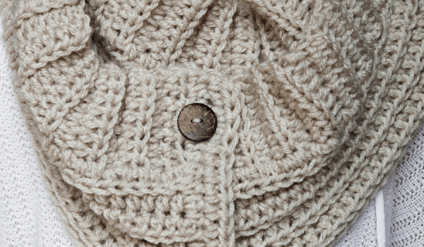 Andy Button Scarf Crochet Pattern