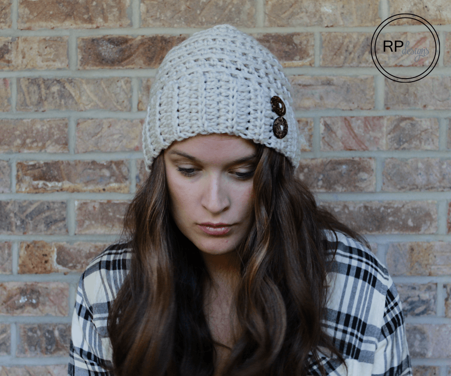 Easy Crochet Hat To Make Free Button Crochet Hat Pattern