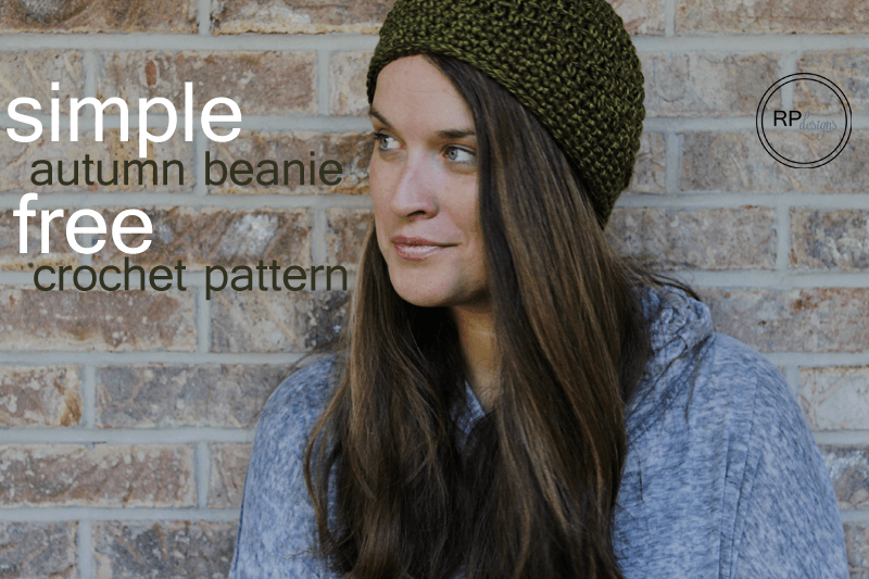 Crochet Beanie Hat Pattern by Rescued Paw Designs- autumn crochet beanie pattern