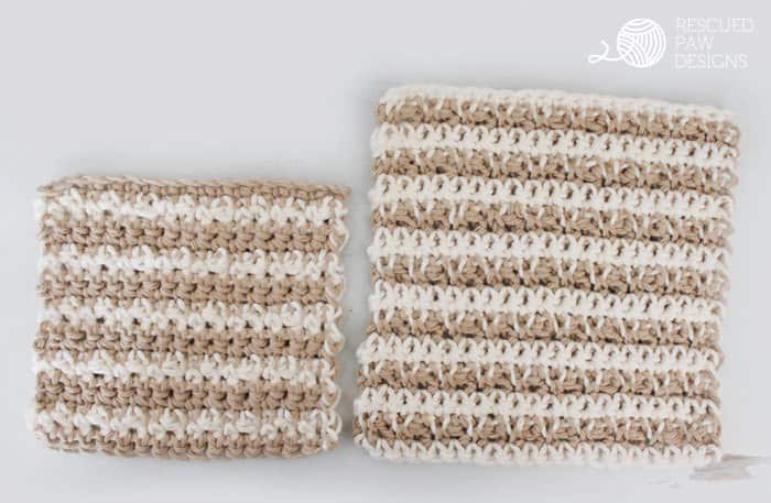 Best Crochet Dishcloth Pattern by Rescued Paw Designs www.rescuedpawdesigns.com