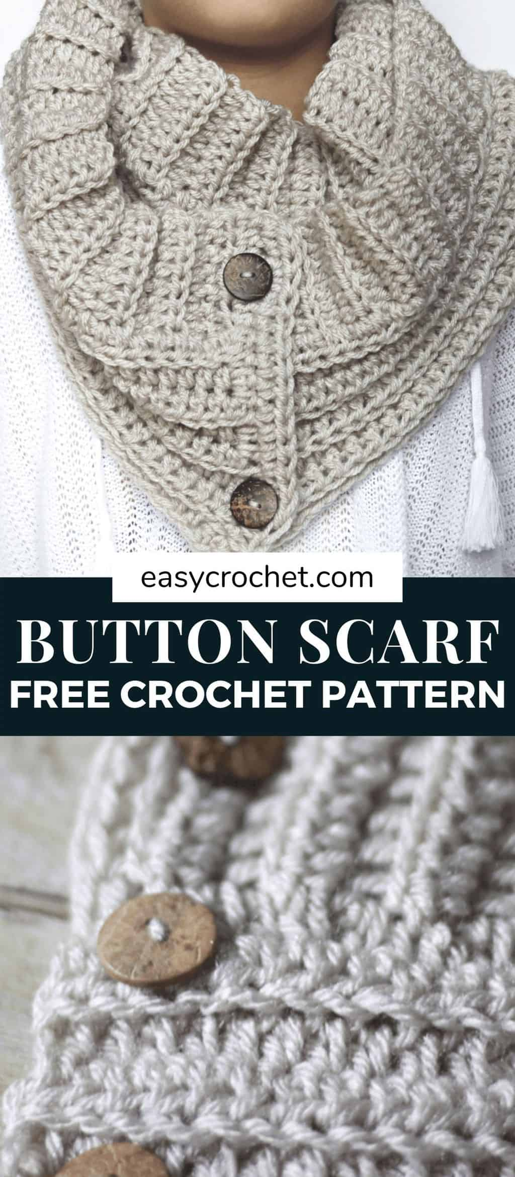 Free Crochet Scarf Pattern is easy to crochet and works up quickly. Get the free crochet pattern and start working on one today! via @easycrochetcom