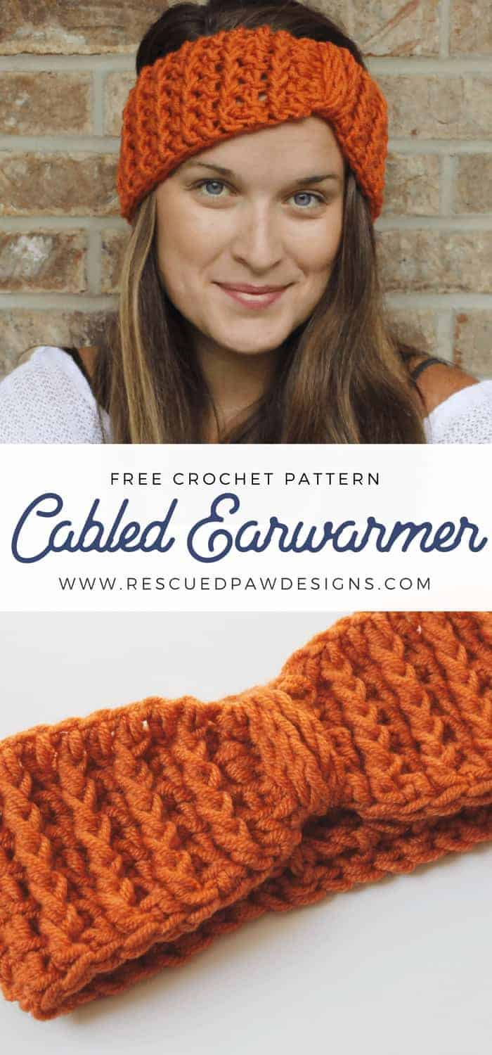 Crochet Fall Ear Warmer Pattern