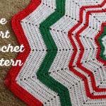 Crochet Tree Skirt Pattern - Christmas Tree Skirt - Free Crochet Pattern - Rescued Paw Designs