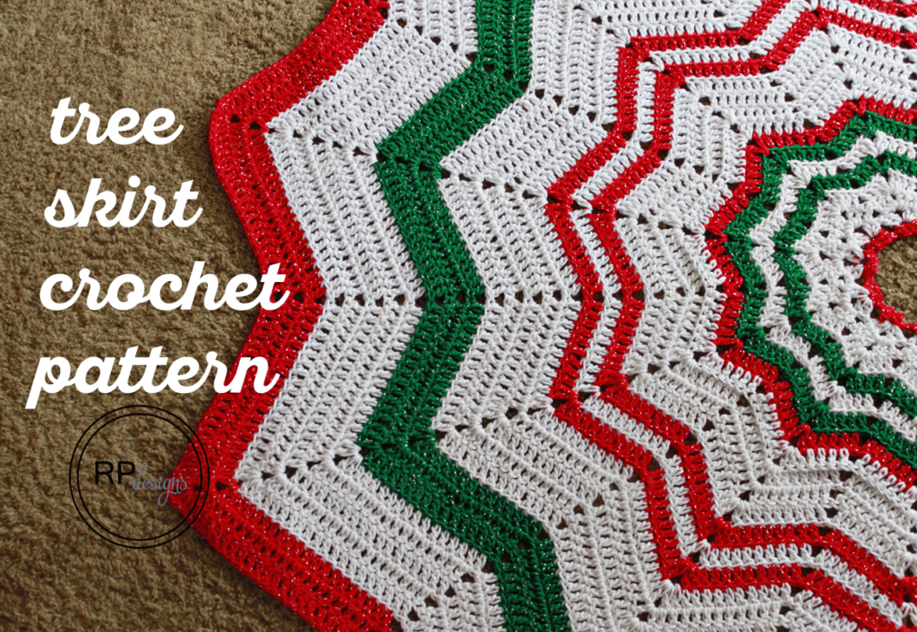 Crochet Christmas Tree Skirt Pattern - Christmas Tree Skirt - Free Crochet Pattern - Rescued Paw Designs