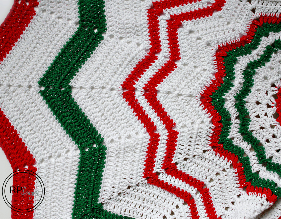 Crochet Christmas Tree Skirt Pattern ? Rescued Paw Designs ...