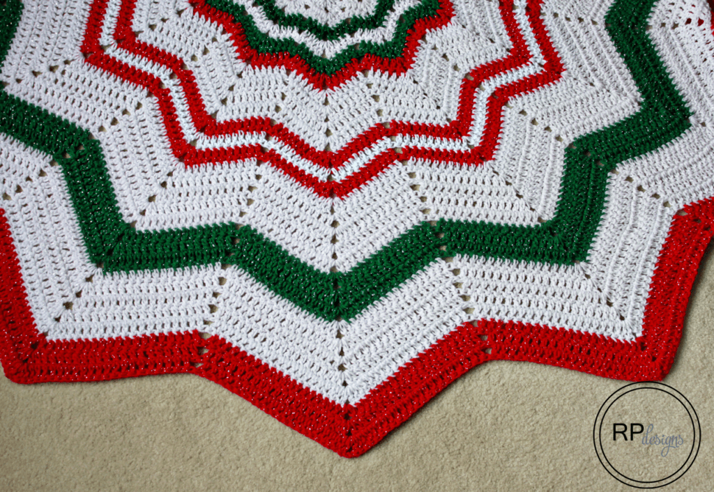 Crochet Tree Skirt Pattern - Christmas Tree Skirt - Free Crochet Pattern - Rescued Paw Designs