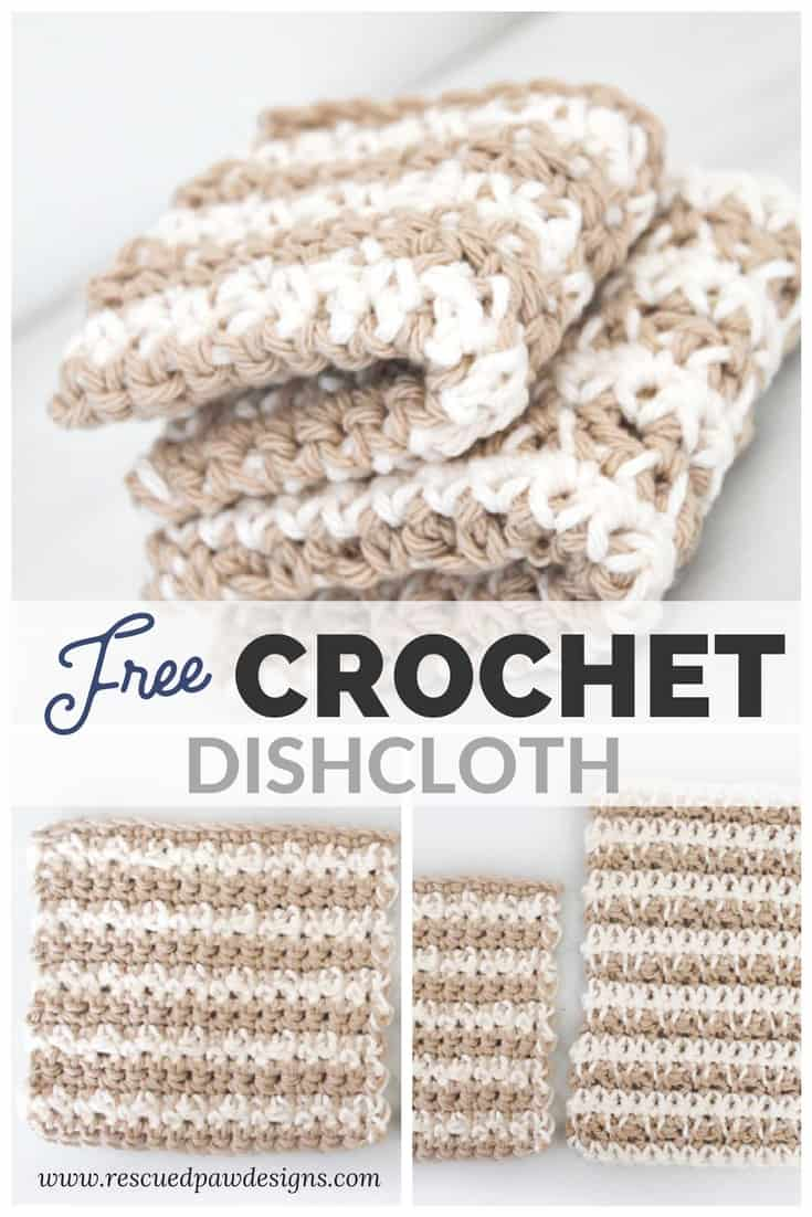 Free Crochet Dishcloth Pattern Rescued Paw Designs