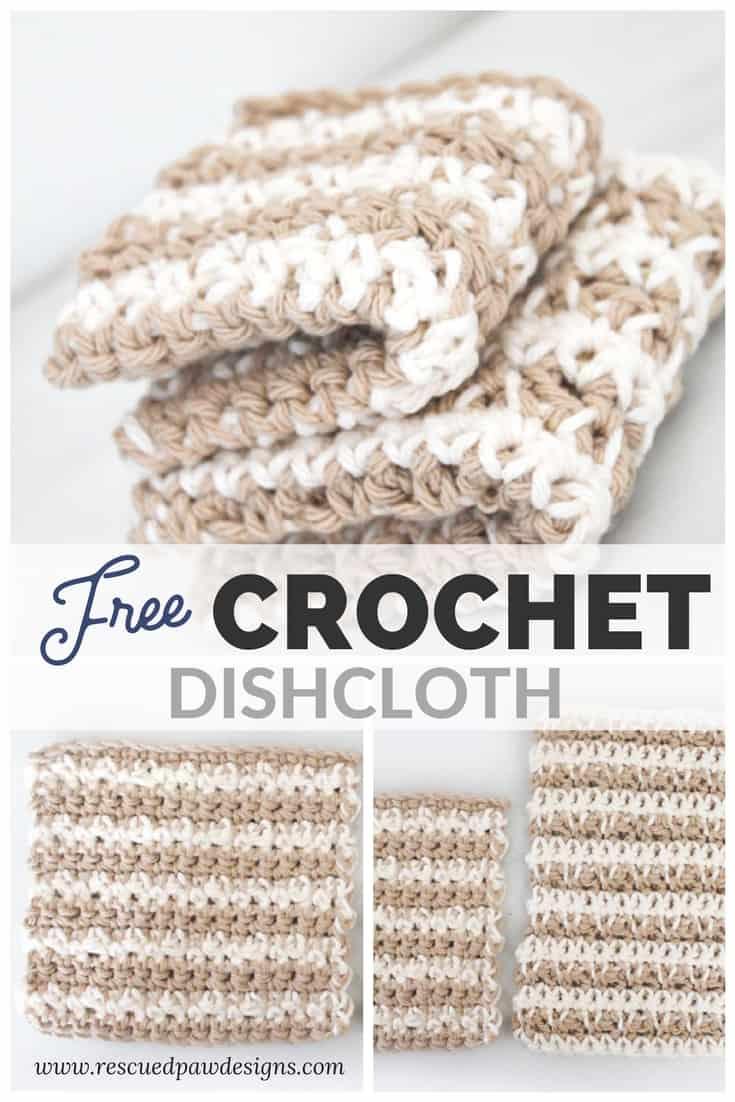 Free Crochet Dishcloth Pattern Easy Crochet