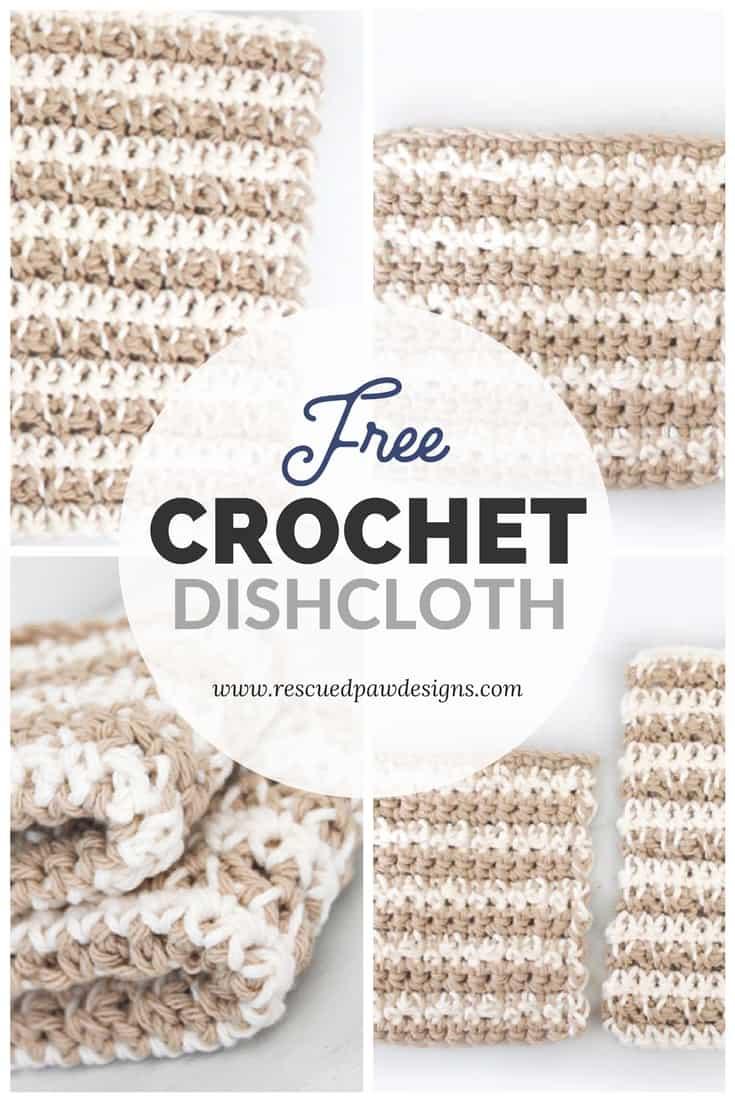 Crochet Cotton Dishcloth Pattern
