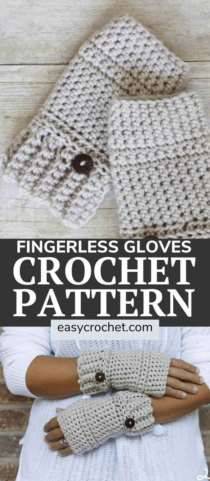 Fingerless gloves crochet pattern via @easycrochetcom