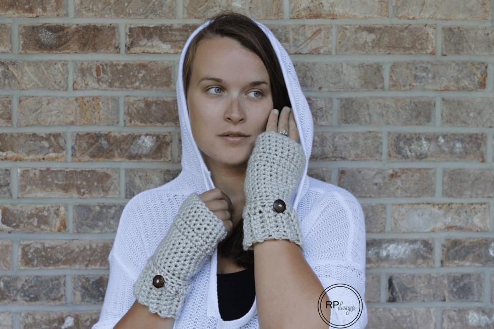 crochet fingerless gloves pattern