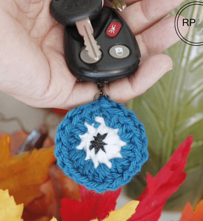 Monster Eye Crochet Keychain