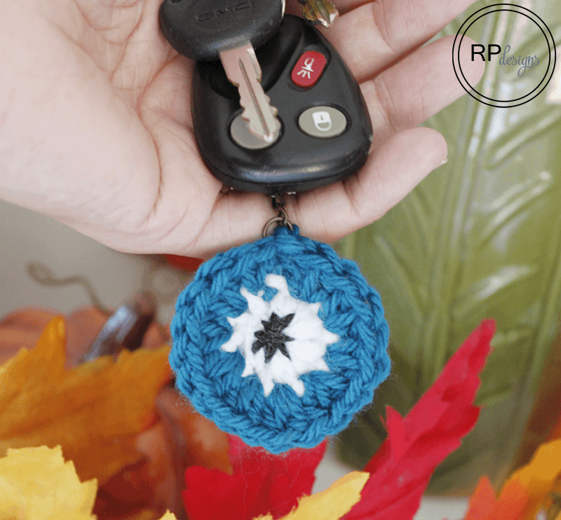 Halloween Monster Eye Crochet Key Chain – Free Pattern