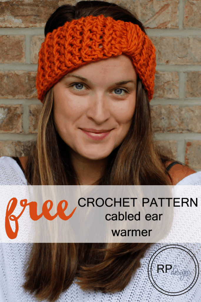 Cabled Ear Warmer Crochet Pattern by Rescued Paw Designs