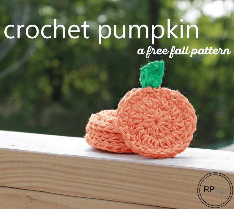 Fall Pumpkin - Free Crochet Pattern by Rescued Paw Designs #Halloween #diy #crochet #crafts #autumn