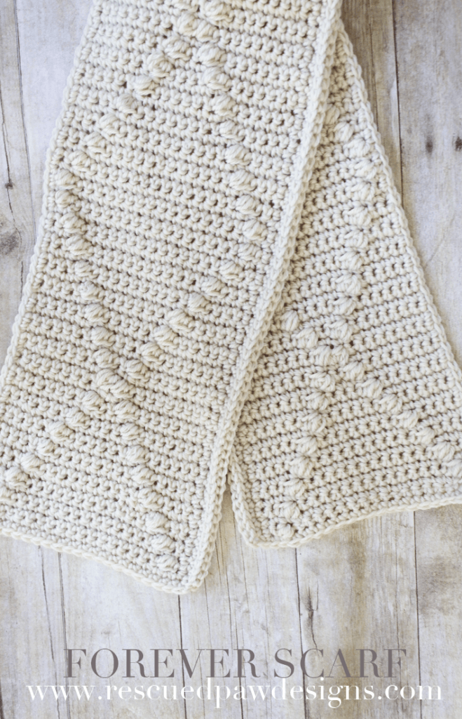 Forever Crochet Scarf - Crochet Pattern by Rescued Paw Designs