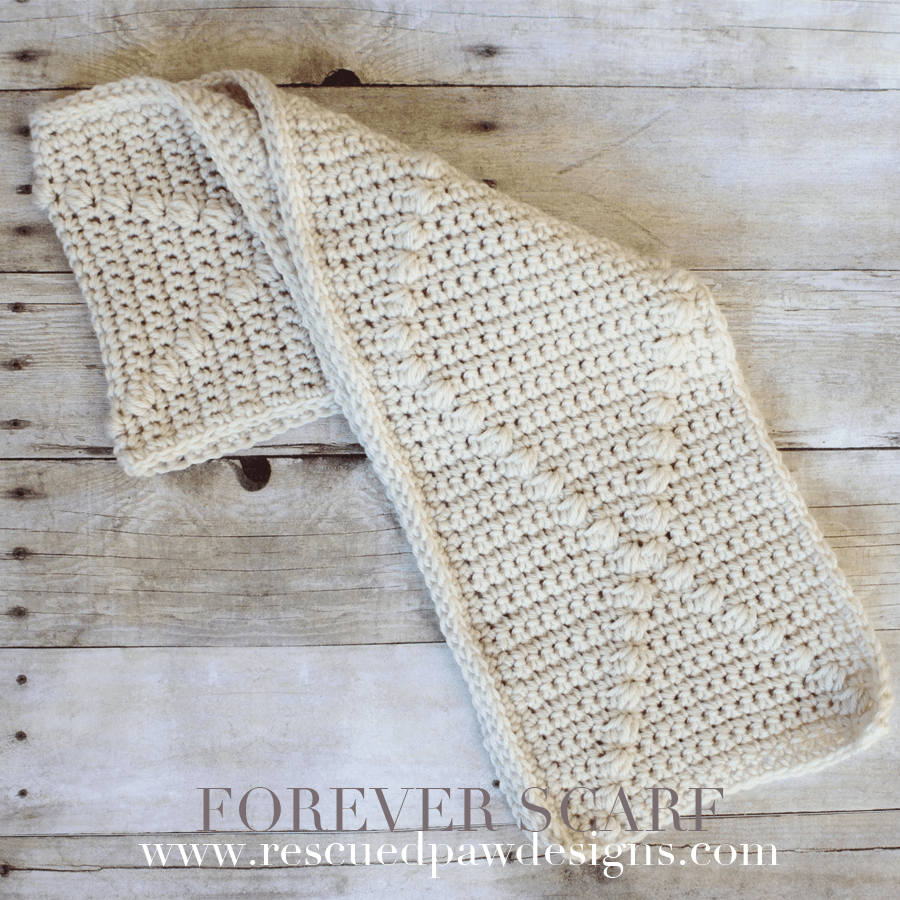 Forever Scarf - Crochet Pattern by Rescued Paw Designs