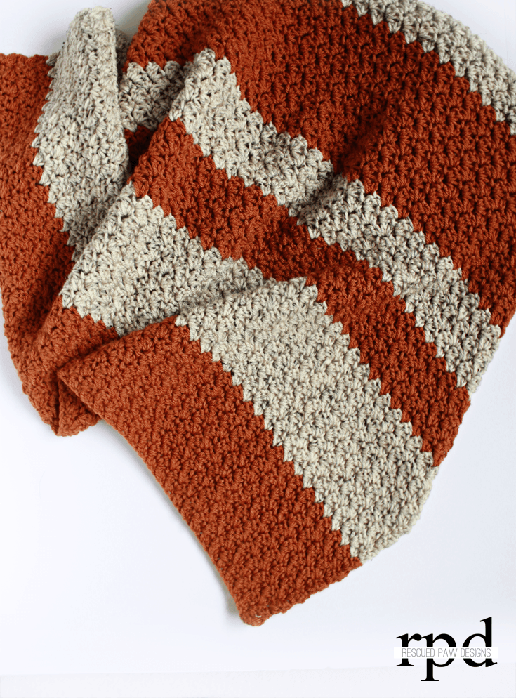 Pumpkin Blanket Free Crochet Pattern by Easy Crochet - Click to Read or Pin and Save for Later!