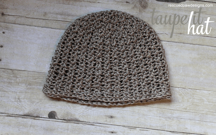 Crochet Beanie Pattern Taupe It by Rescued Paw Designs