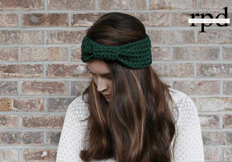 Wrapped Headband - Free Crochet Pattern by Rescued Paw Designs