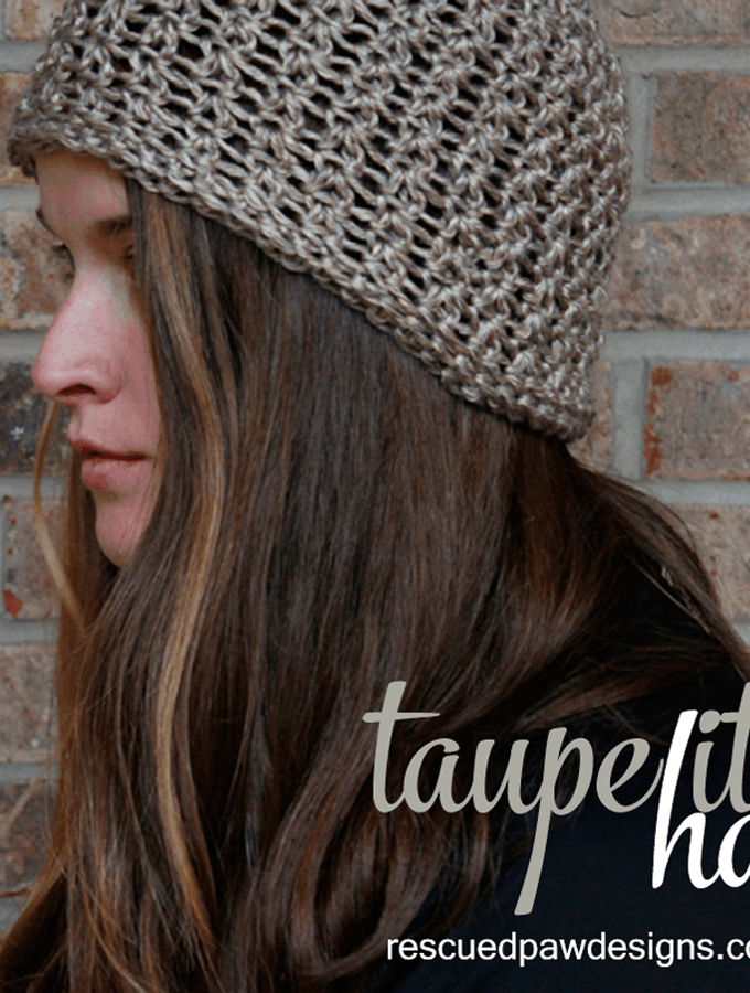 Crochet Beanie Pattern - Taupe It Hat