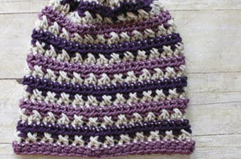FREE Sugared Plum Beanie Crochet Pattern by Rescued Paw Designs
