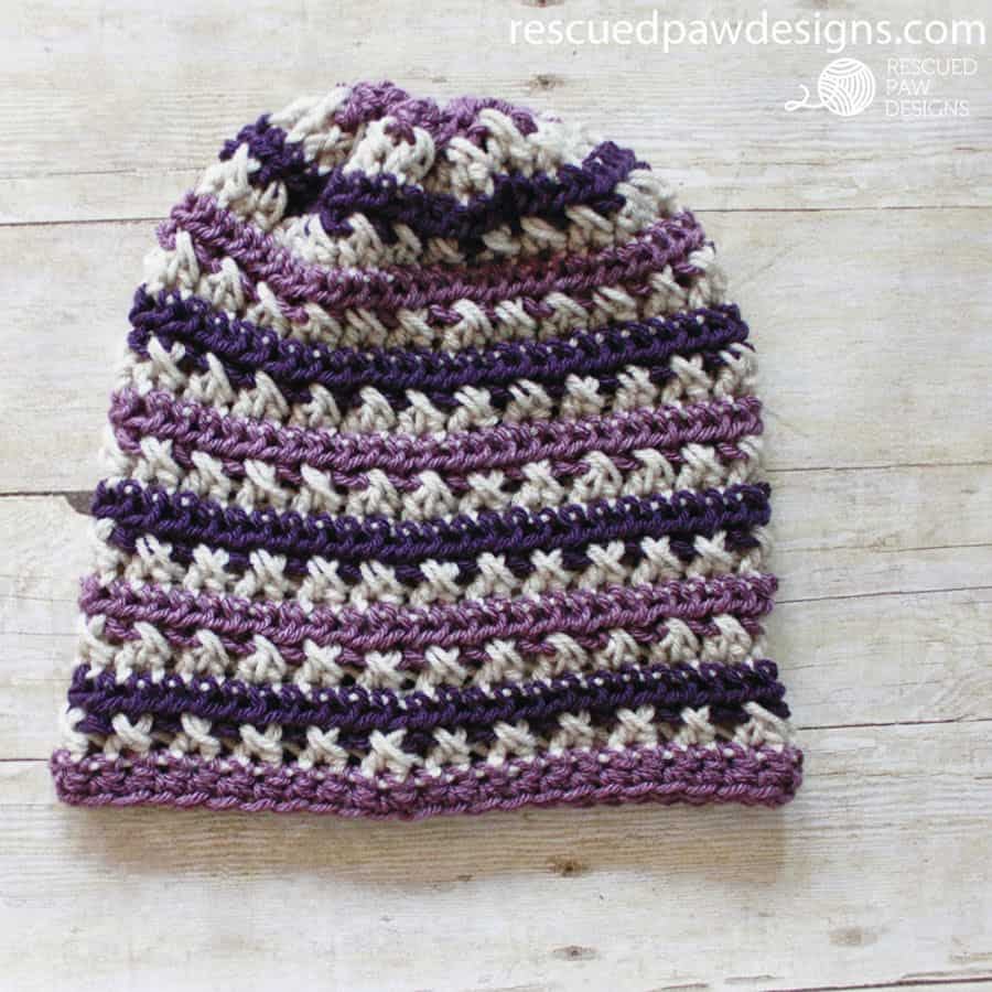 FREE Sugared Plum Beanie Crochet Pattern by Easy Crochet