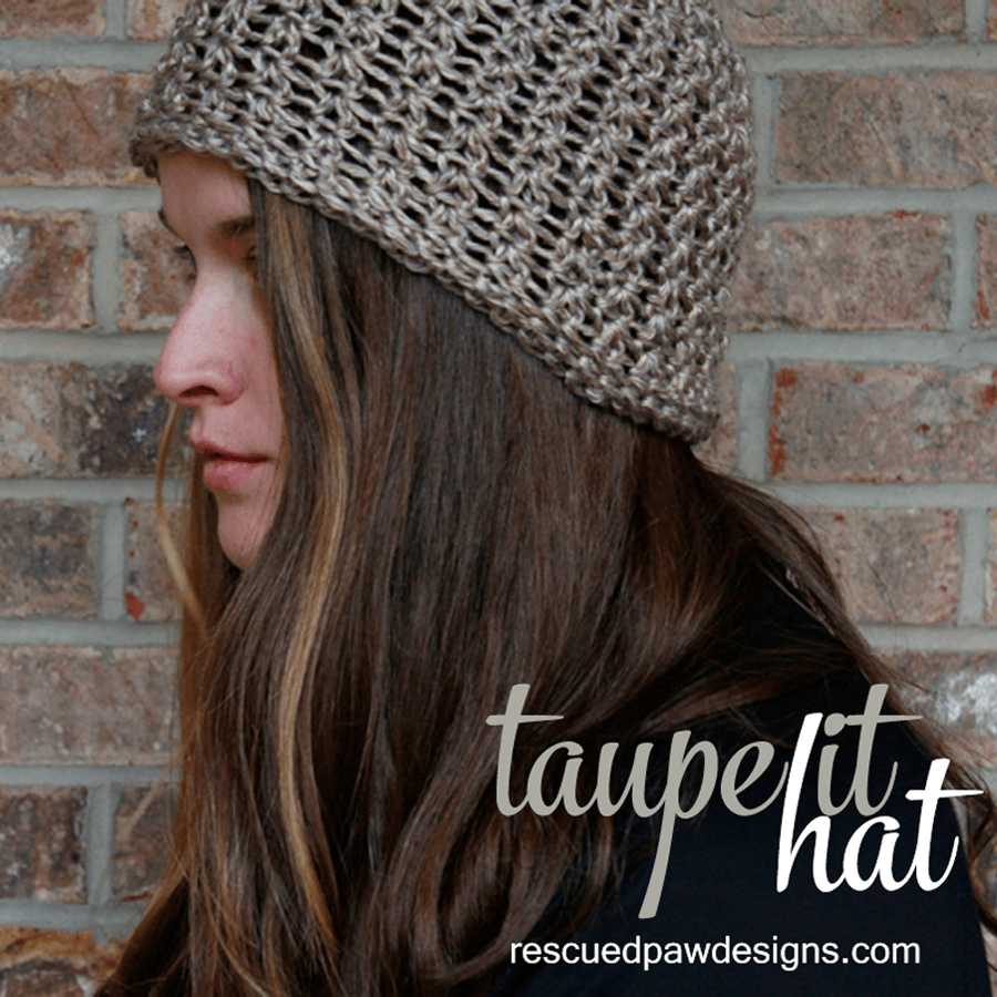 Crochet Beanie Pattern - Taupe It Hat
