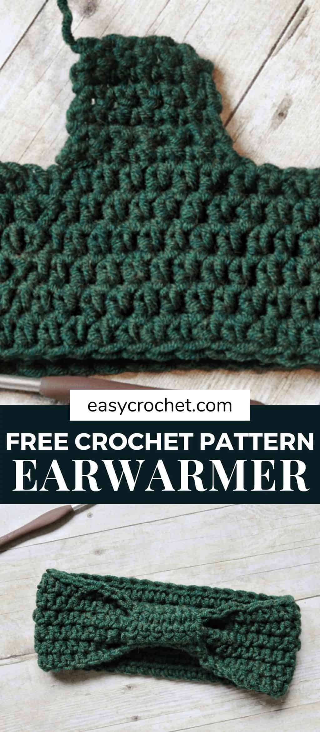 Wrapped Headband Crochet Pattern from Easy Crochet - Free Crochet Headband Pattern via @easycrochetcom
