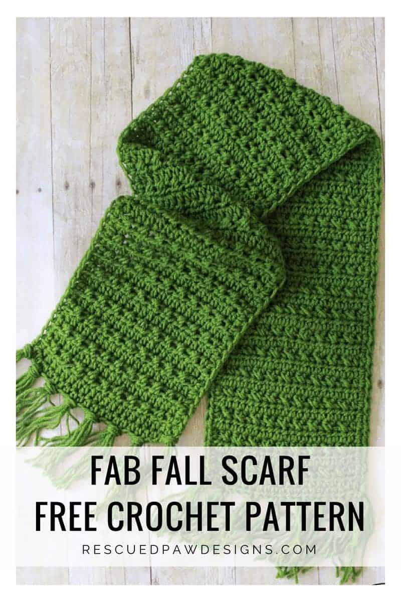 Fall Crochet Scarf Pattern - Easy Crochet Pattern
