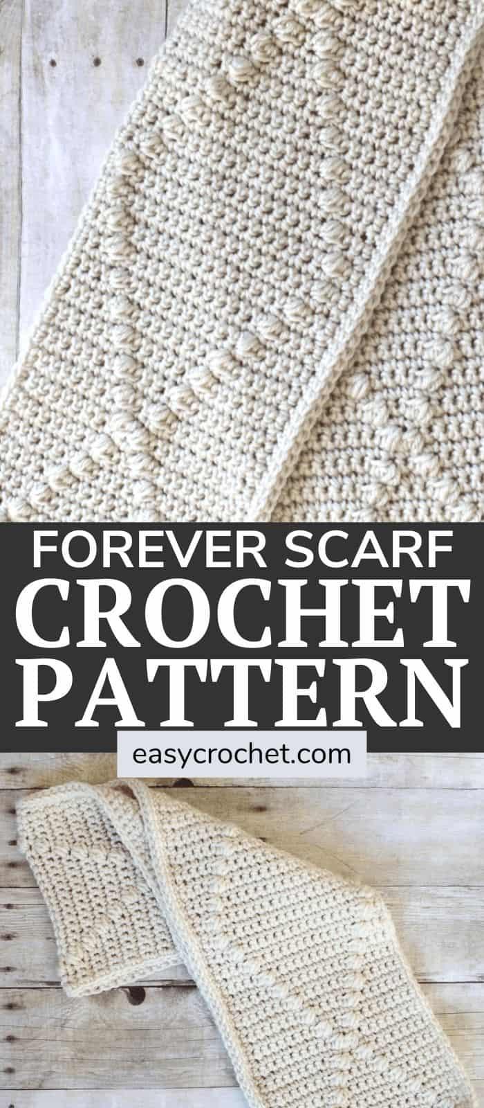 Free Puff Stitch Crochet Scarf Pattern by Easy Crochet via @easycrochetcom