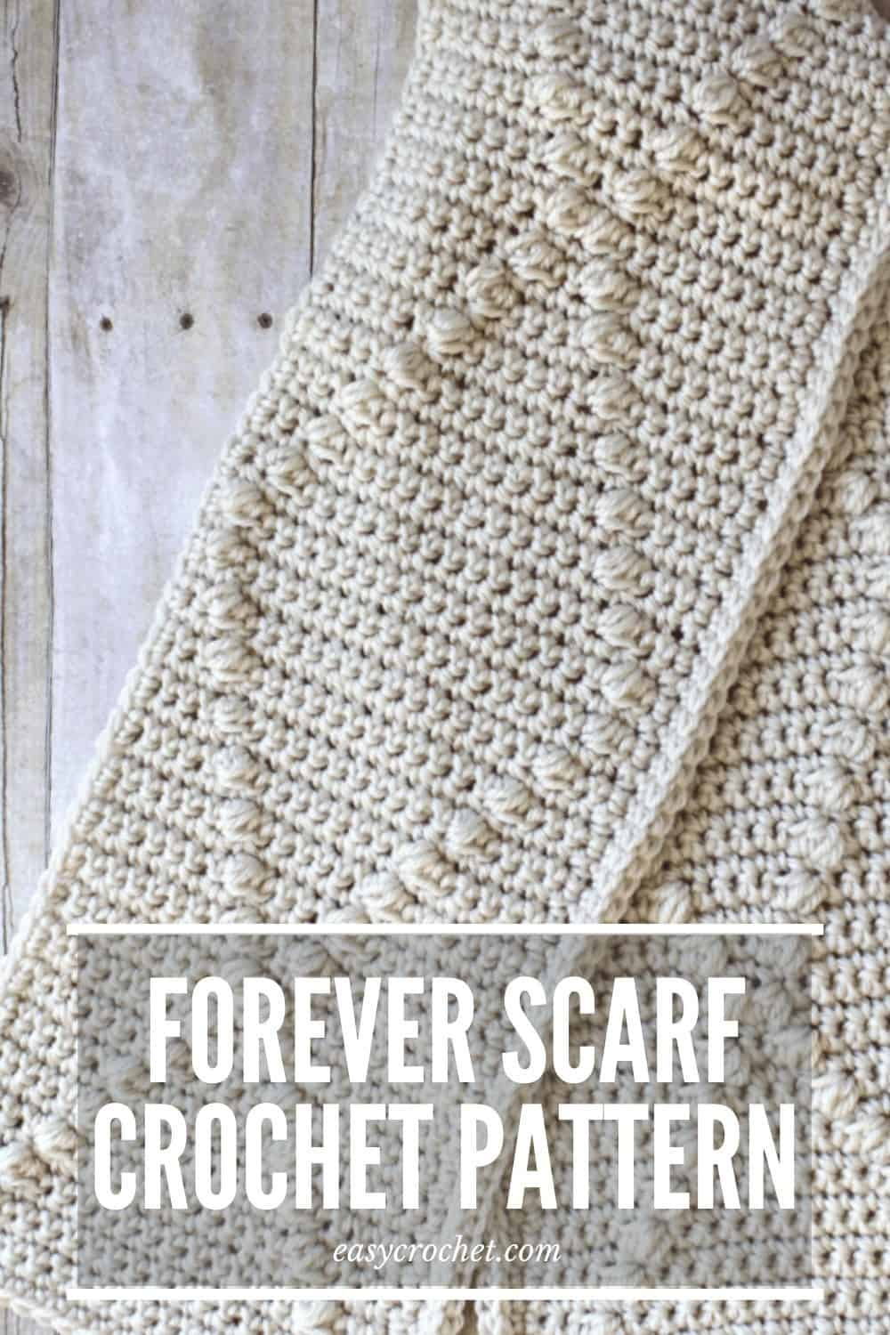 Free Puff Stitch Crochet Scarf Pattern by Easy Crochet via @easycrochetcom