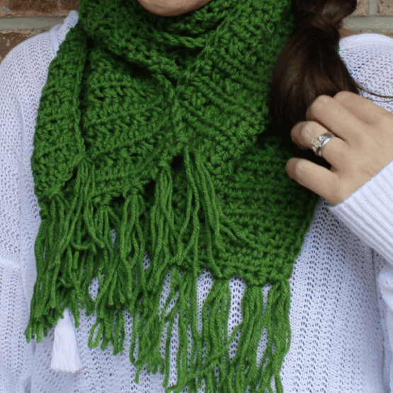 Fabulously Fall Fringe Scarf Rescued Paw Designs Crochet