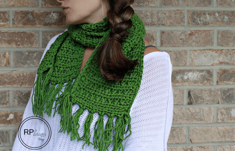 Fabulously Fall Fringe Scarf - Free Crochet Pattern by Rescued Paw Designs