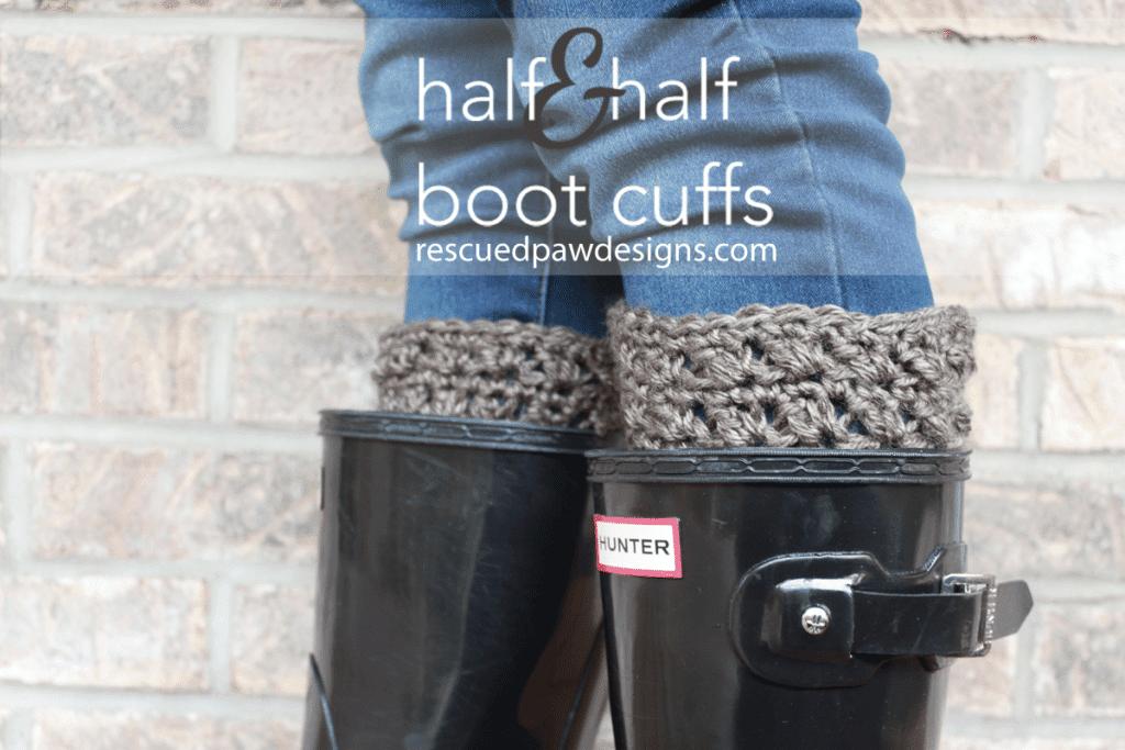 Half&Half Crochet Boot Cuffs from Easy Crochet www.easycrochet.com