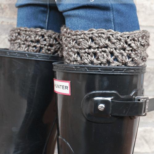 Half & Half Boot Cuffs – Crochet Pattern