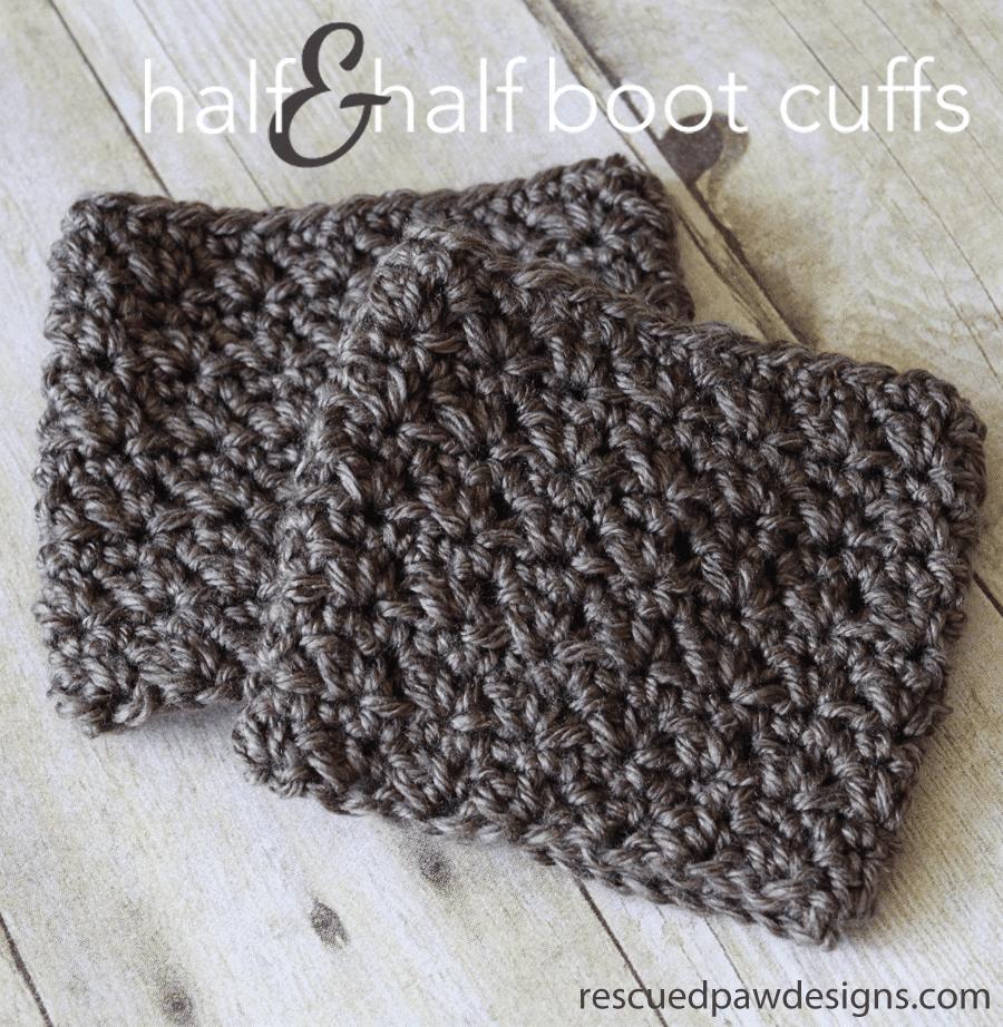 Half & Half Boot Cuffs Crochet Pattern|| FREE PATTERN || from Easy Crochet