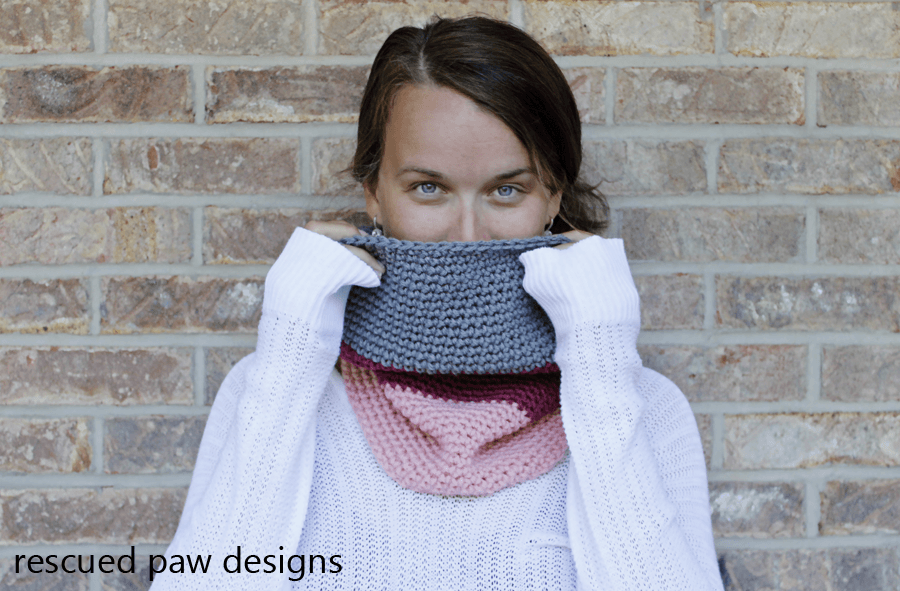 colorblocked cowl