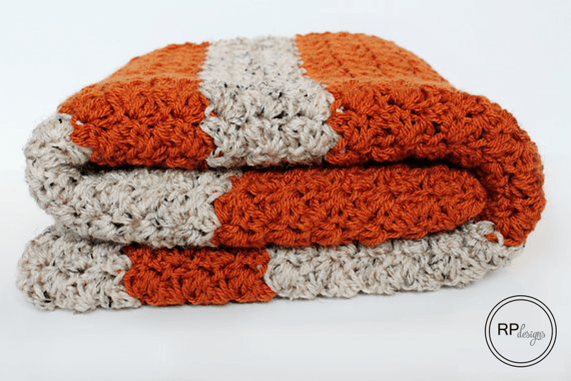 Pumpkin Blanket Crochet Pattern - Rescued Paw Designs