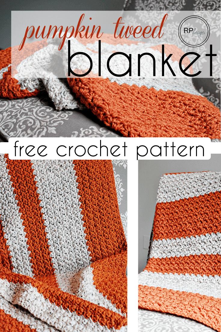 Pumpkin Spice Crochet Throw