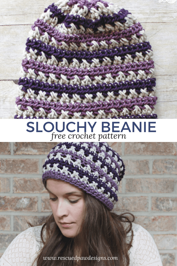 Slouchy Beanie ⋆ Rescued Paw Designs Crochet