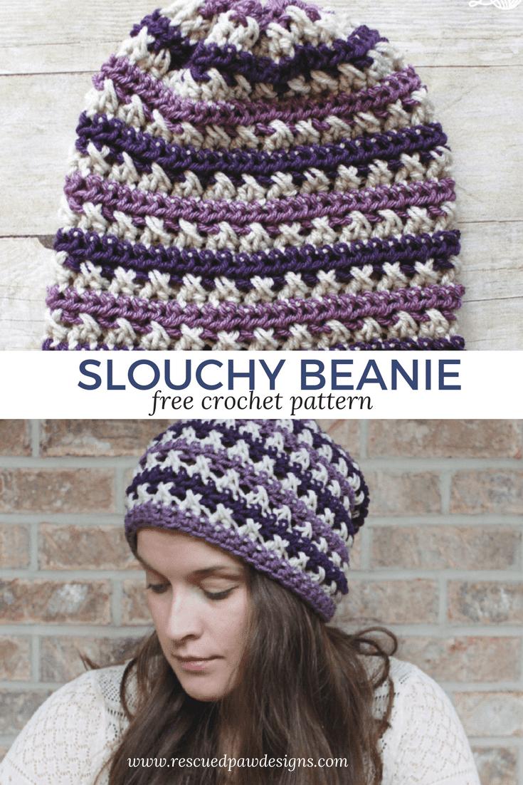 Crochet Slouchy Beanie Crochet Pattern - Crochet Slouchy Beanie