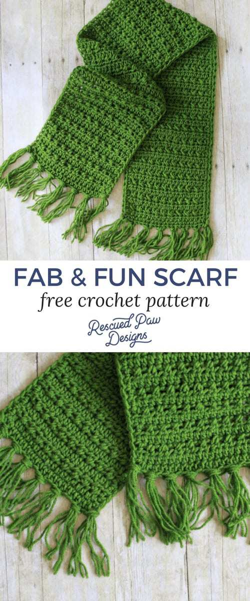 Fabulously Fall Fringe Scarf Rescued Paw Designs
